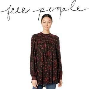 Free People Flowers in Her Hair Smock Tunic NWT